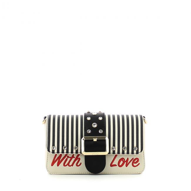 Borsa a tracolla Melrose Love Stripes Liu Jo  ef4d932ac58