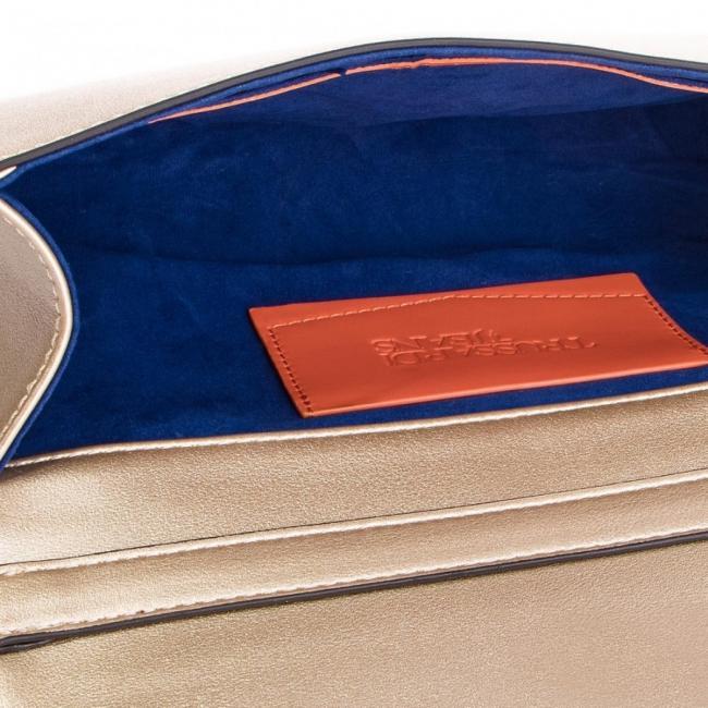 Borsa Trussardi Jeans t-easy star clutch 75B00673 M050 metal gold