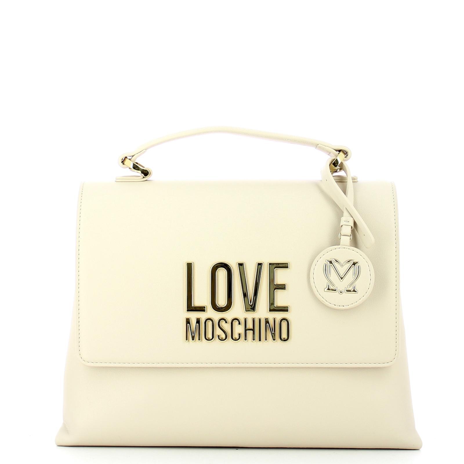 Love Moschino Borsa a mano Gold Metal Logo - 1