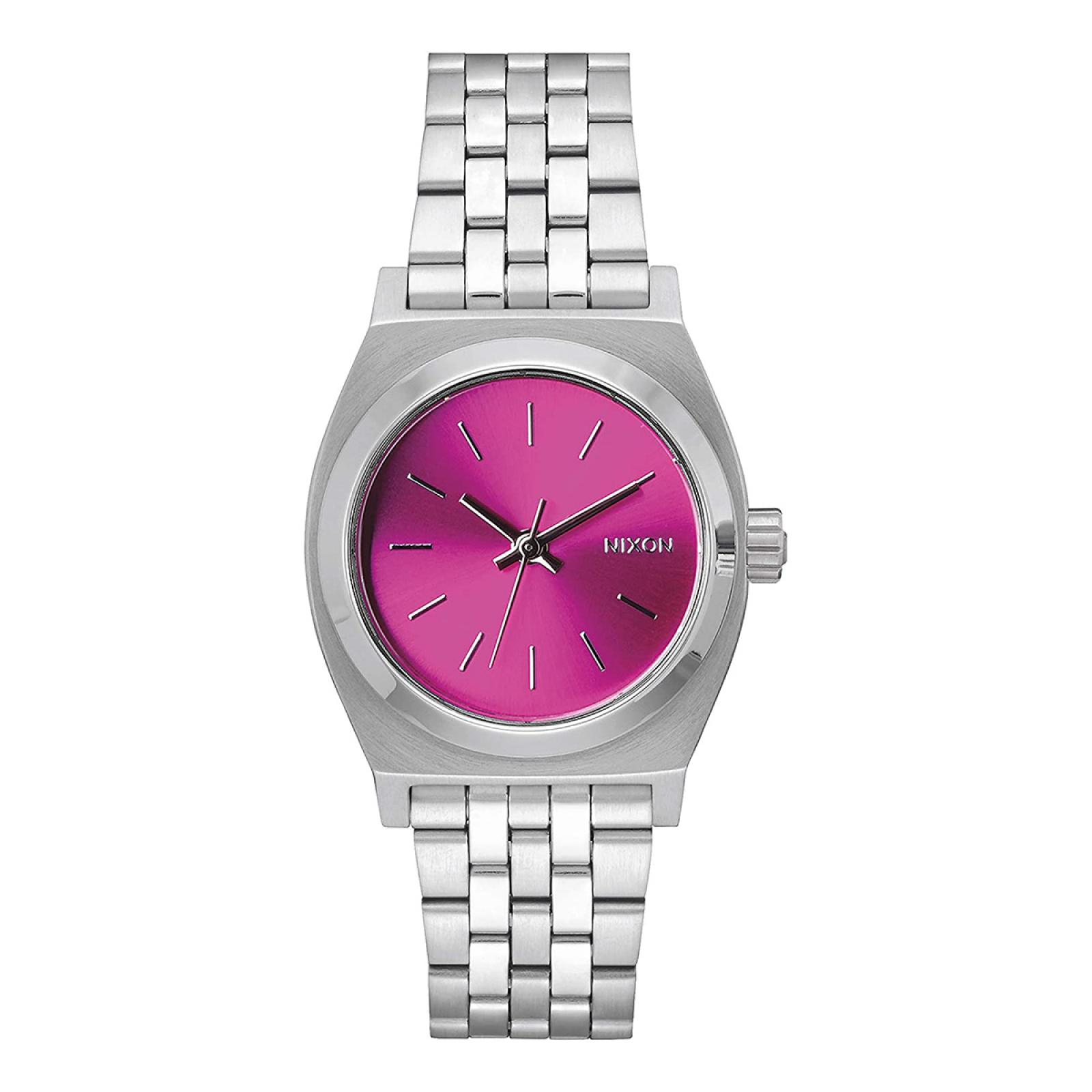 NIXO Orologio Medium Time Teller 31 mm Silver and Pink Sunray - 1