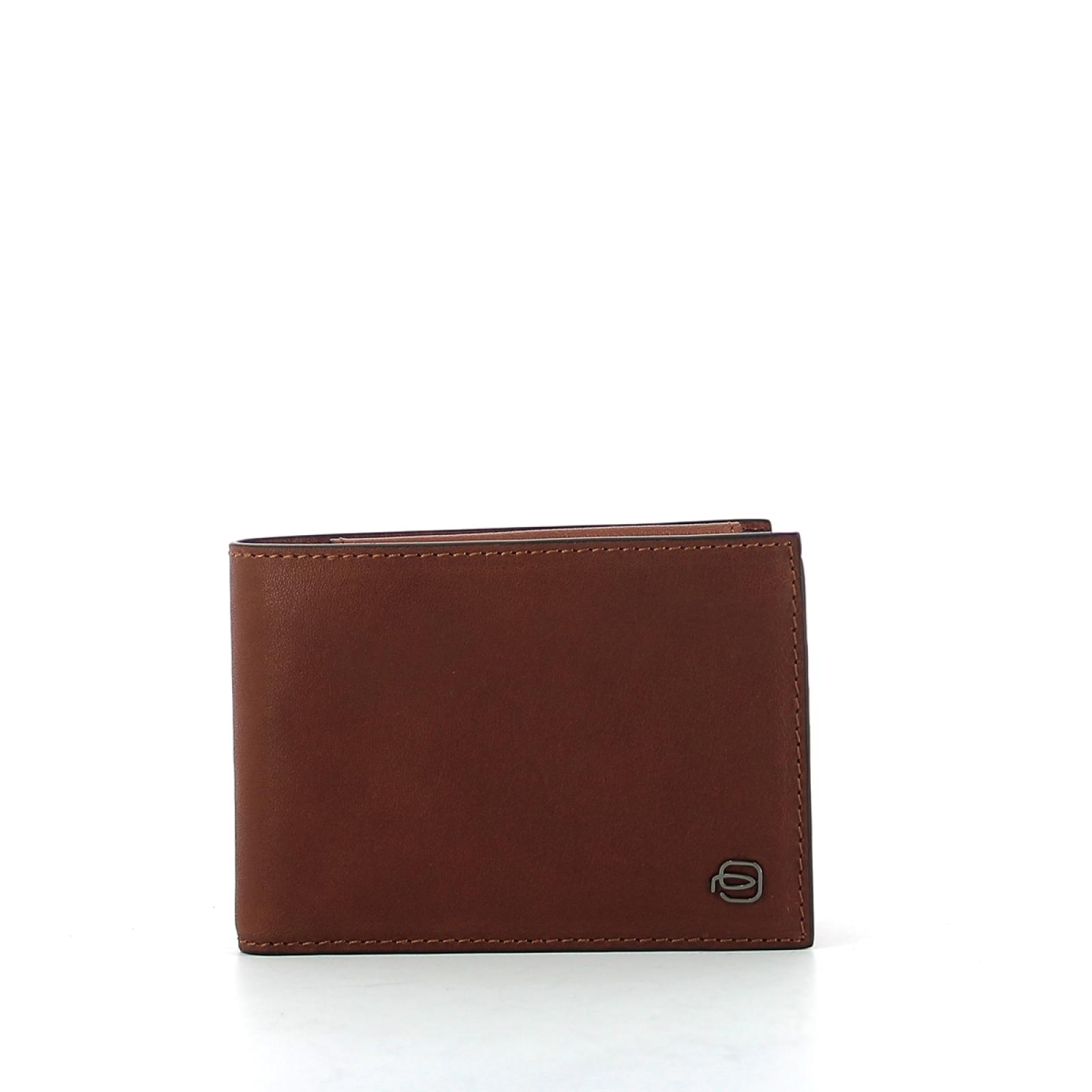 Wallet with coin pouch Black Square-CUOIO-UN