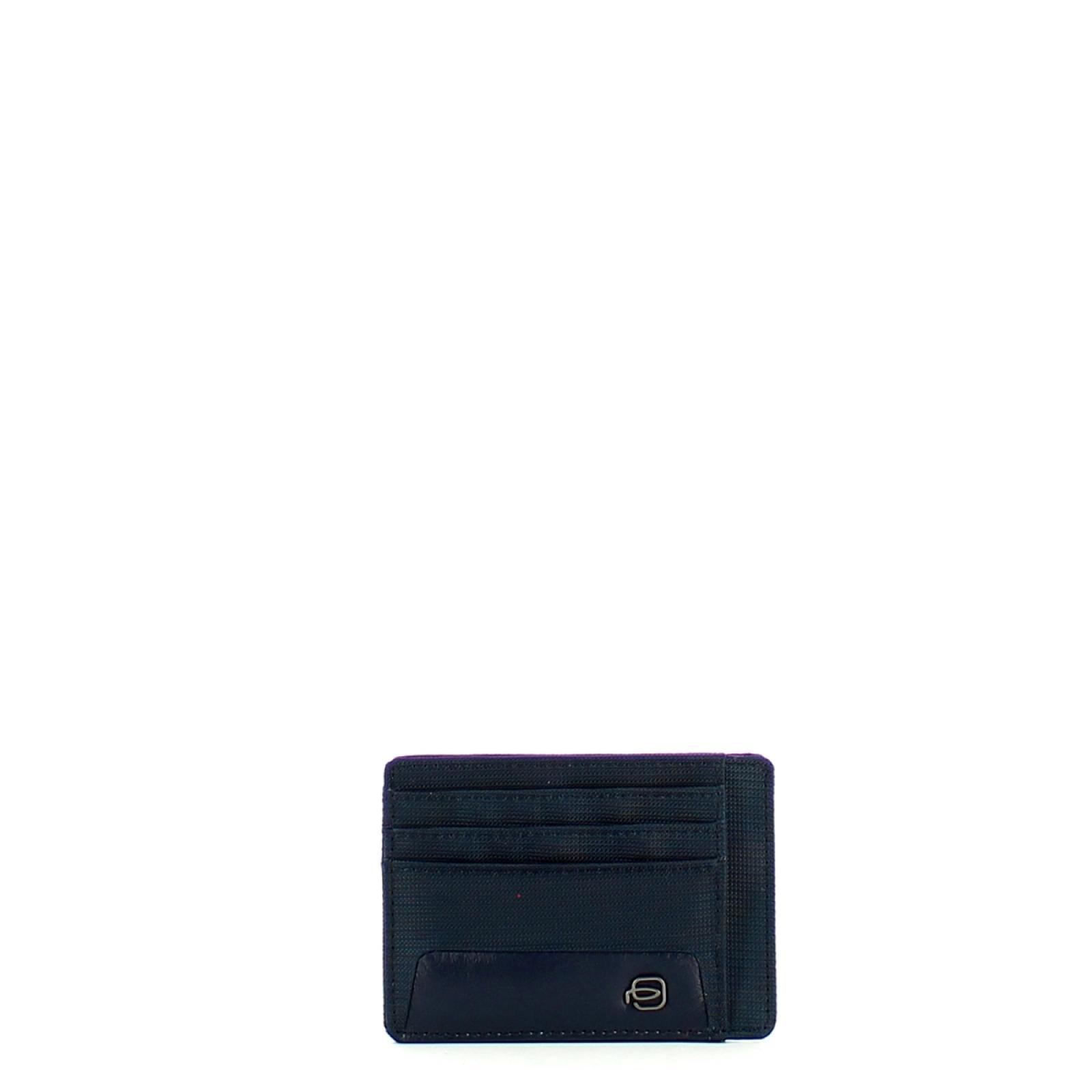 Piquadro Porta Carte di credito in tessuto riciclato con RFID Macbeth - 1