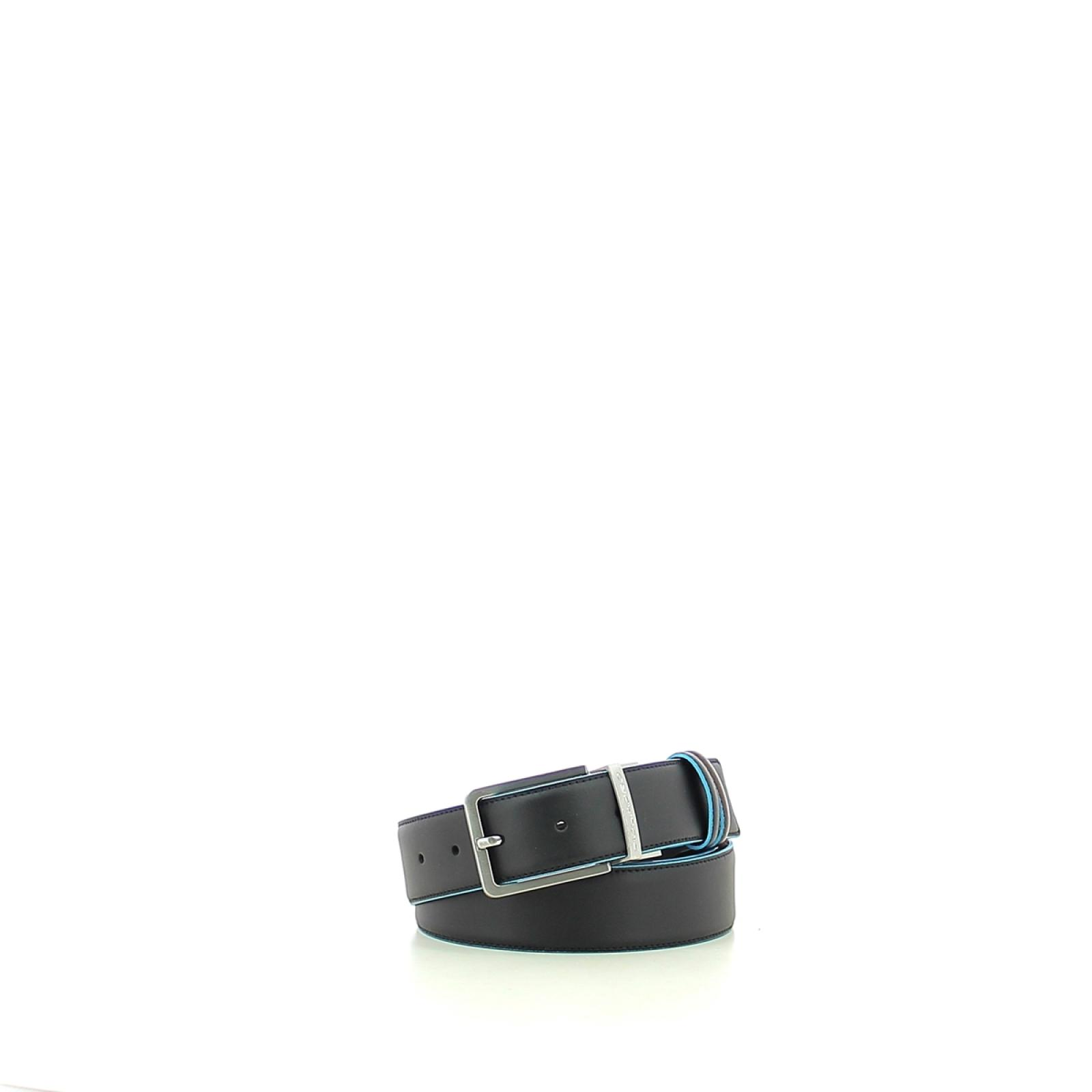 Double-face men's belt Blue Square-NEMA-UN