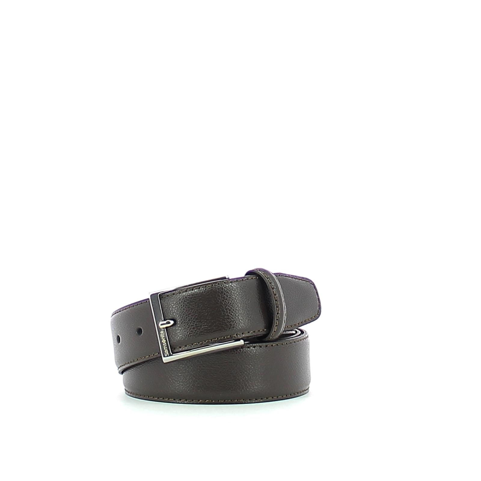 Men Belt in Leather-DBROWN-S