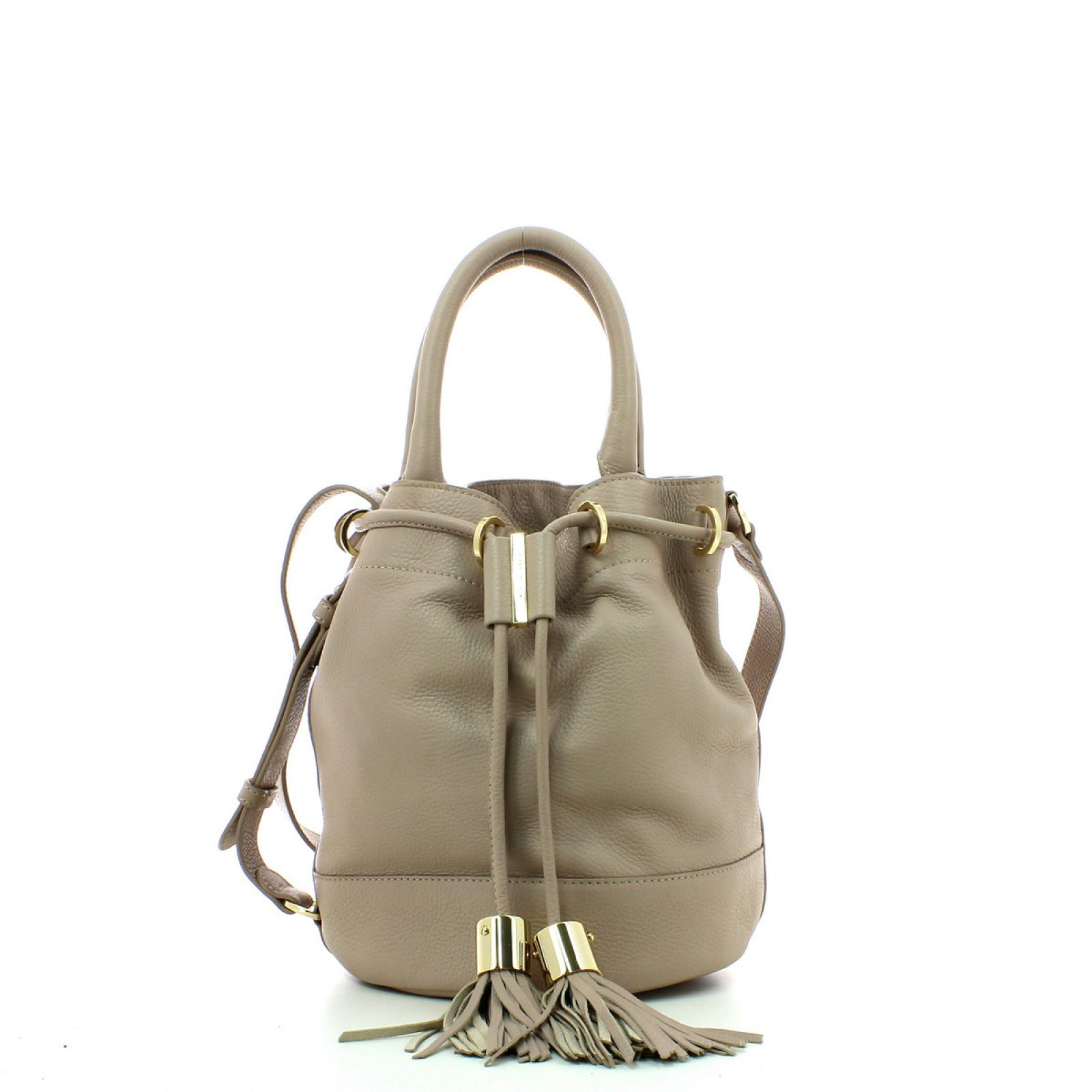 Bucket With Handcarry & Crossbody Strap Vicki-WGREY-UN