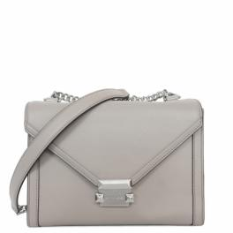 Borsa a spalla Whitney Large convertibile in pelle-PEARL/GREY