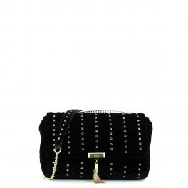 Velvet crossbody with rhinestones - 1