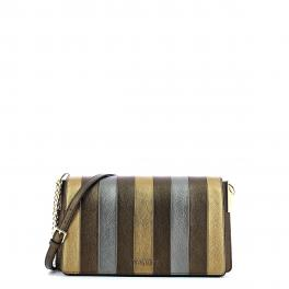 Crossbody bag in laminated leather - 1