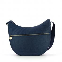 Borbonese Borsa Luna Bag Medium Jet con taschino - 1