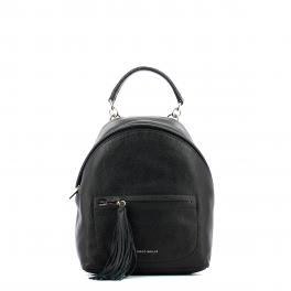 Leonie Mini Leather Backpack-NOIR-UN