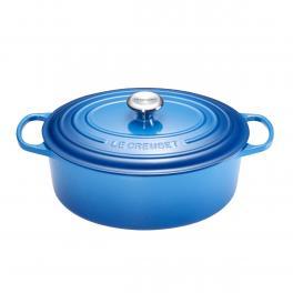 Le Creuset Cocotte Ovale 27 cm Blu Marsiglia - 1