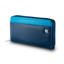 Leather Wallet Mauritius Colorful-BLU-UN