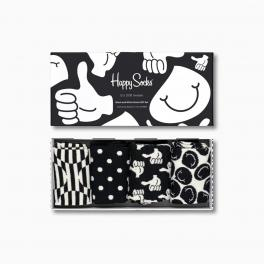 Happy Socks Black and White Socks Gift Box 4-Pack - 1