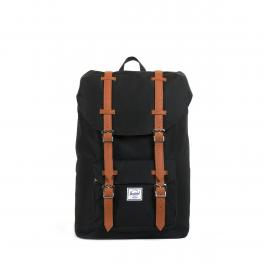 Herschel Supply Zaino Little America Mid 13.0 Black Tan - 1
