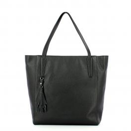 Iuntoo Shopper in pelle Armonia Nero -