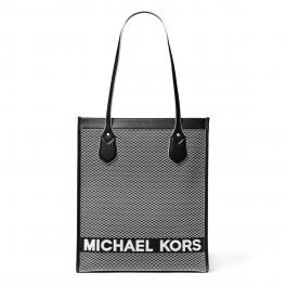 Michael Kors Bay Large Woven Canvas Tote Bag - 1