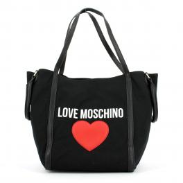 Love Moschino Shopper large in canvas con cuore - 1