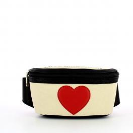 Love Moschino Marsupio in canvas con cuore - 1