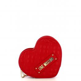 Love Moschino Borsa a tracolla Cuore Shiny Quilted Rosso - 1