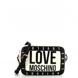 Love Moschino Camera Bag logata Bianco - 1