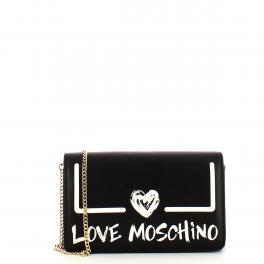 Love Moschino Clutch Nero Bianco - 1