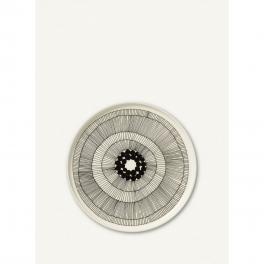 Oiva-Siirtolapuutarha Plate 25 cm-WHITE/BLACK-UN