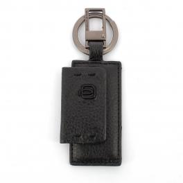 Keyholder with carabiner P15 Plus-NERO-UN