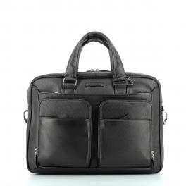 Leather computer Briefcase Modus 14.0-NERO-UN