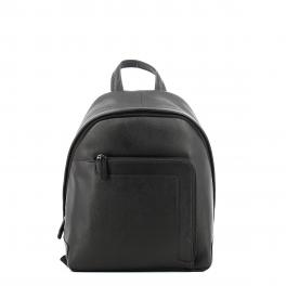 Small leather backpack-MARRONE-UN