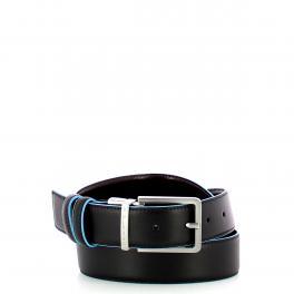 Piquadro Cintura reversibile 35 mm Blue Square -