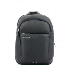 Leather Backpack Medium-BLU-UN