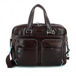 Double Handle Briefcase Blue Square