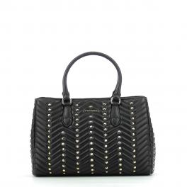 Tote Bag Quilted Studs-NERO-UN
